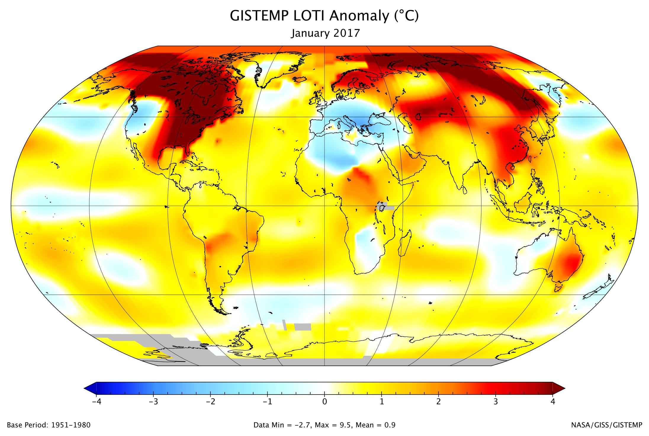 Data.GISS: GISTEMP Update: January 2017 Was Third-Warmest ...
